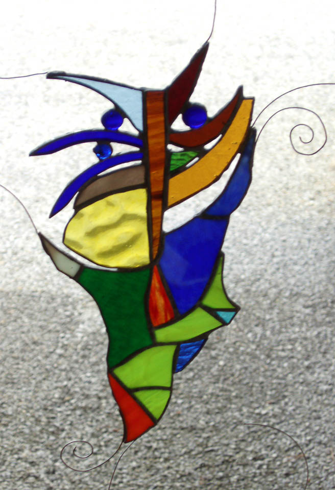 stain glass creature